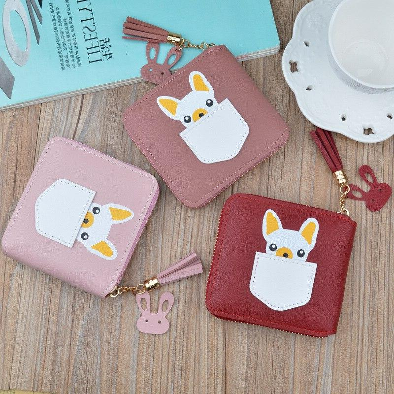 New <font><b>wallet</b></font> cartoon cute purse female square <font><b>wallet</b></font>