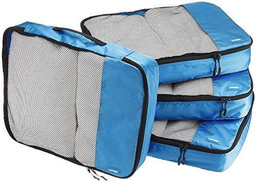NEW 4 - Piece Packing Cube Set Blue Lightweight Travel Lugga