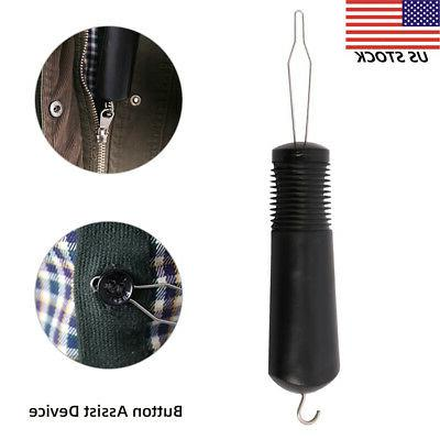 plastic handle button hook and zipper pull
