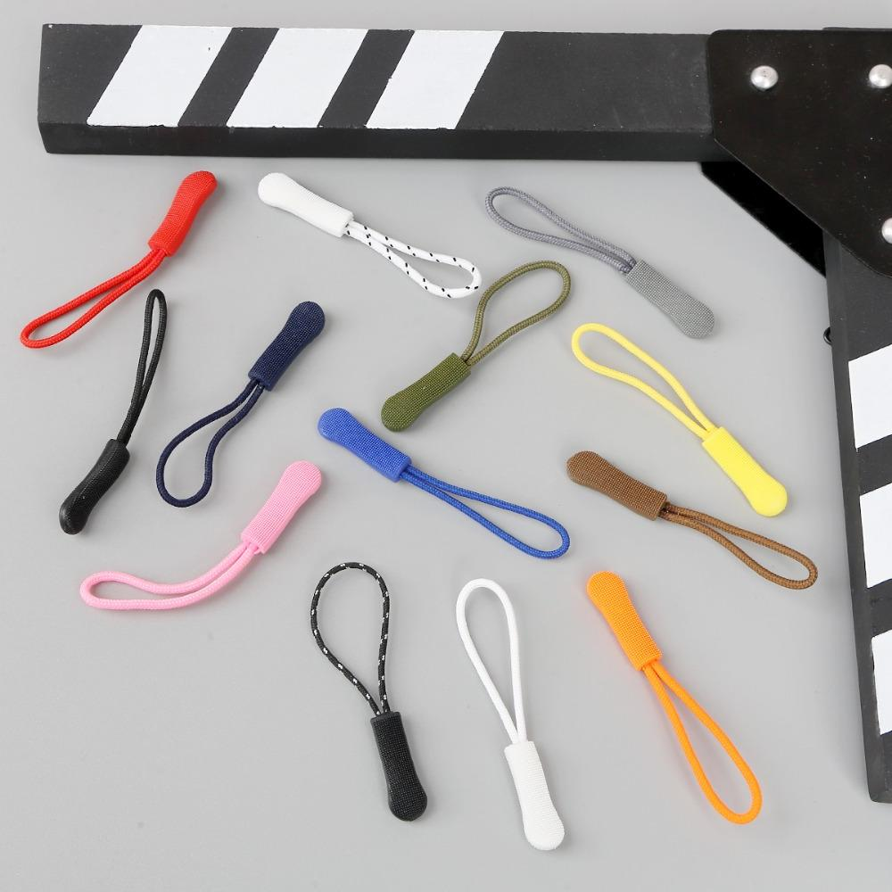 pvc 10pcs pack cord font b zipper