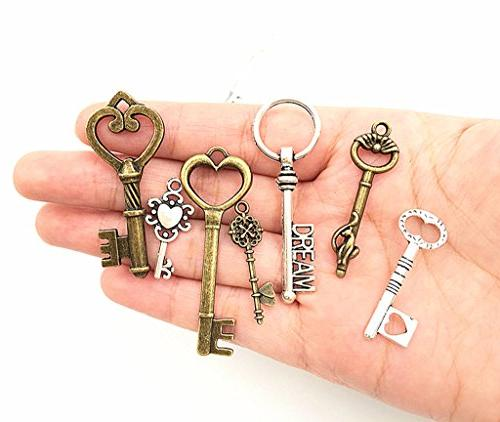 25pcs Skeleton Charms,Mixed Pendants for Necklace Jewelry Making Accessories