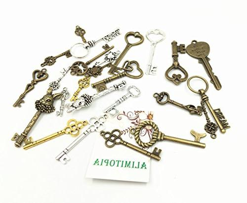 25pcs Steampunk Charms,Mixed Master Pendants Necklace Jewelry Accessories