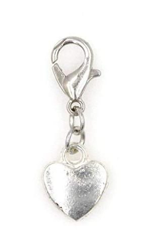 solid heart clip charm perfect