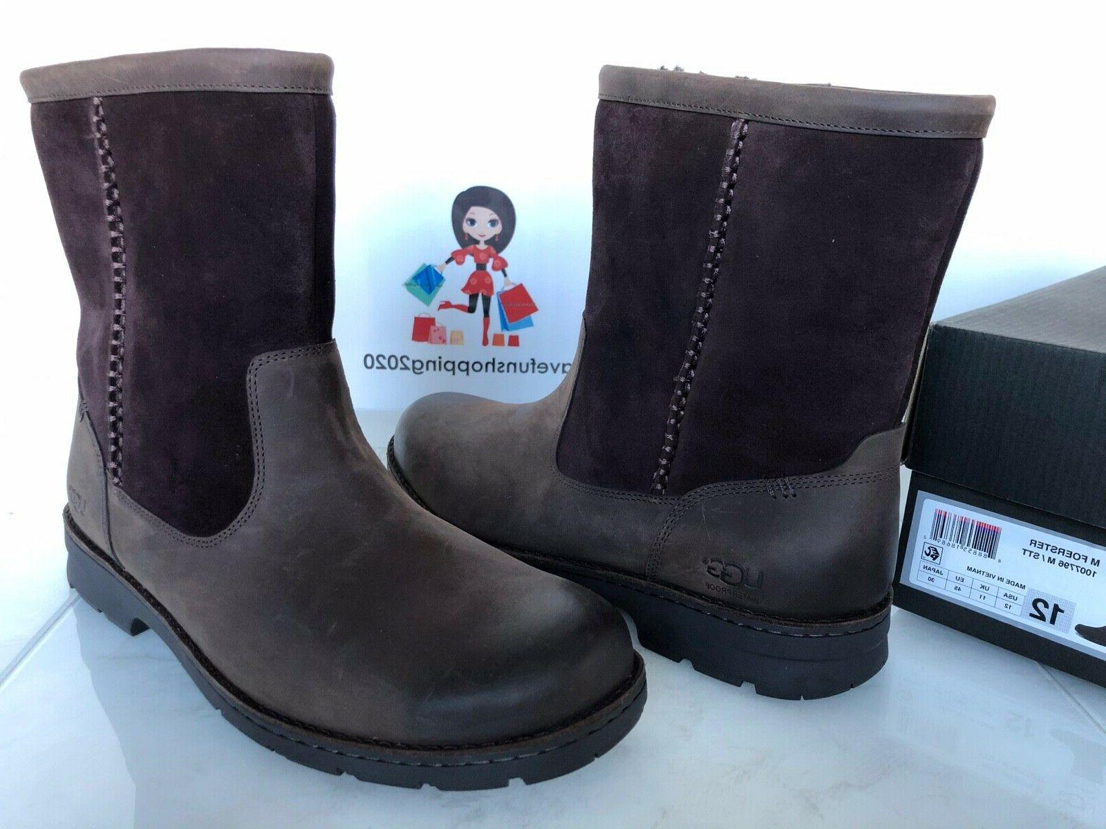 ugg foerster waterproof leather pull on boots
