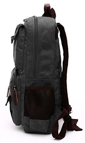 Canvas Aidonger Vintage Canvas Backpack Travel Fits Laptop
