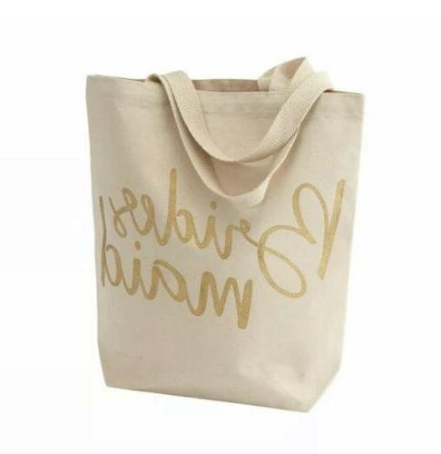 wedding bridesmaid canvas tote bag new