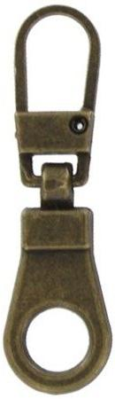 Zipper Pull Antique Brass