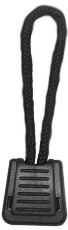 Zipper Pull With Cord Black