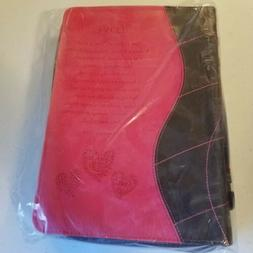 Large Bible Book Cover Zipper-Pull Christian Art Gifts w/ 2