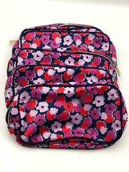Lot of 5: Estee Lauder Cosmetic Flower Print Makeup Bag Zipp