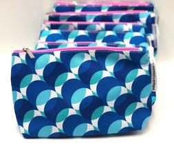 Lot of 8:  Kapitza by Clinique Cosmetic Makeup Bag Zipper Po