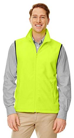 Harriton M985 Adult 8 Oz. Fleece Vest Safety Yellow 2Xl