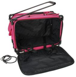 "TUTTO Machine On Wheels Case 21""X13-1/4""X12""-Pink"