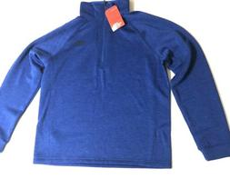 Men's The North Face Pull Over Blue 1/4 Zip Fleece Jacket Si