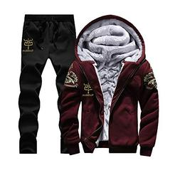 GOVOW Mens Hoodies Pullover Big and Tall Winter Warm Fleece