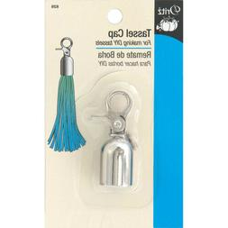 Dritz Metal Tassel Cap-Nickel, 826D