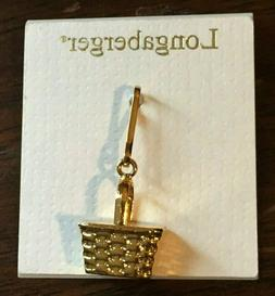 Longaberger Mini Basket Replica ZIPPER PULL Brand New with T