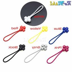 Mix Color Cord Zipper Pulls Strap Lariat Black For Apparel A