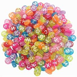 AKOAK Pack of 200 Mixed 4 x 7 mm Round Candy Colors Acrylic