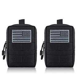 FUNANASUN MOLLE Pouches - 2 Pack Tactical Compact Pack Water