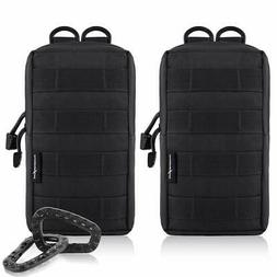 FUNANASUN 2 Pack Molle Pouches Tactical Compact Water Resist