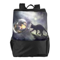 Summer Moon Fire Multifunction Outdoor Backpacks Fairy Cat A