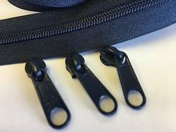 NAVY #5 Coil Zippers By The Yard for Handbags Purses - 4 yds