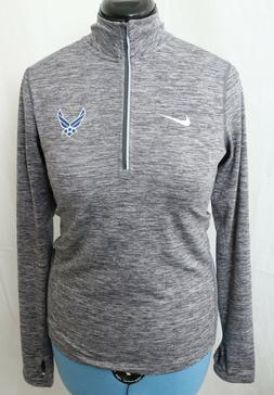 New Nike Dri-Fit Dry Gray United States Air Force 1/4 Zip Pu