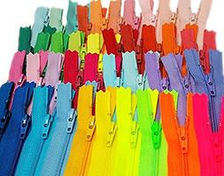 Zipperstop wholesale - 48pcs YKK#3 Nylon Coil Zippers Tailor