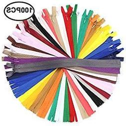 Erlvery DaMain 100Pcs 12 Inch Nylon Invisible Zippers Bulk S