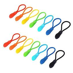 Maosifang 70 Pieces Nylon Zipper Pull Cord Zipper Extension