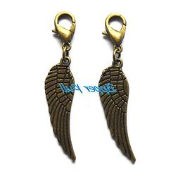 Own Charm ~ Antique Bronze Huge Feather Wing Charms 9x28mm,W