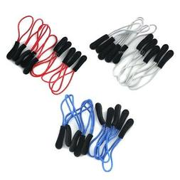 PACK 10pcs  Zipper Pull Cord Rope Ends Lock Zip Clip Buckle