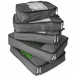 TravelWise Packing Cube System - Durable 5 Piece Weekender P