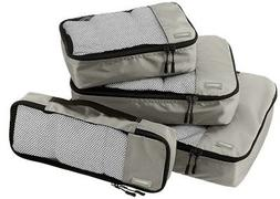 AmazonBasics Packing Cubes - Small, Medium, Large, and Slim,