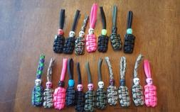 Paracord Zipper pulls 5 pack **Many combinations**