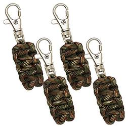 DOMINICORE Paracord Zipper Pulls  4 Pack - Camo