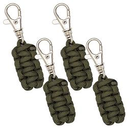 Monkey Armor Paracord Zipper Pulls 4 Pack - Army Green | Met