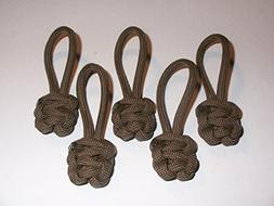 RedVex Paracord Zipper Pulls / Lanyards - Lot of 5 - ~2.5 -