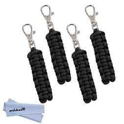 Techion Paracord Zipper Pulls for Backpacks, Tents, Trolley