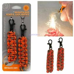 UST Paratinder Zipper Pull Fire Lighting Paracord Survival