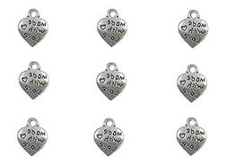 "100pcs Peach Heart Shape ""MADE WITH LOVE"" Charm pendant for"