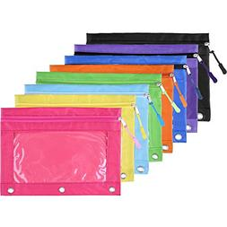 BBTO Pencil Pouch 3 Ring Binder Pencil Bags with Zipper Pull