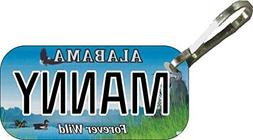 Personalized Alabama Wild Zipper Pull State License Plate Re