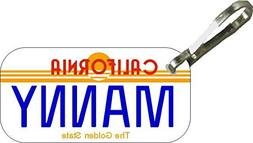 Personalized California Sun Zipper Pull State License Plate