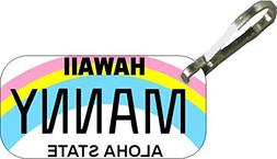 Personalized Hawaii Regular Zipper Pull State License Plate