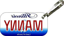 Personalized Illinois 2001 Zipper Pull State License Plate R