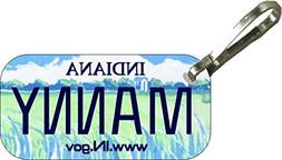 Personalized Indiana 2003 Zipper Pull State License Plate Re