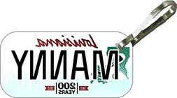 Personalized Louisana 2011 Zipper Pull State License Plate R