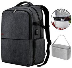 17 inch Laptop Backpack with USB Charging Port, Travel Picni